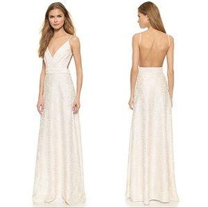 BHLDN Starlight Sequin Full Length Gown